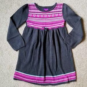❤ Greendog Gray and Pink Sweater Dress